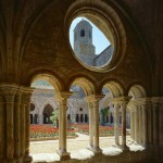 Abbaye Fontfroide-narbonne interieur cloitre