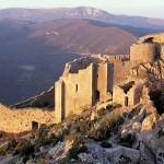 Chateau peyrepertuse narbonne vue aerienne