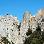 Chateau peyrepertuse narbonne vue exterieure