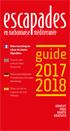 Le Guide Escapades en Pays Narbonnais à télécharger