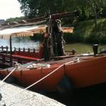 La capitane narbonne bateau amarre