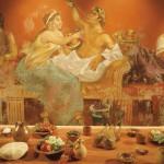Terra vinea narbonne peinture table rome
