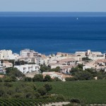 La ville narbonne vue mediterranee